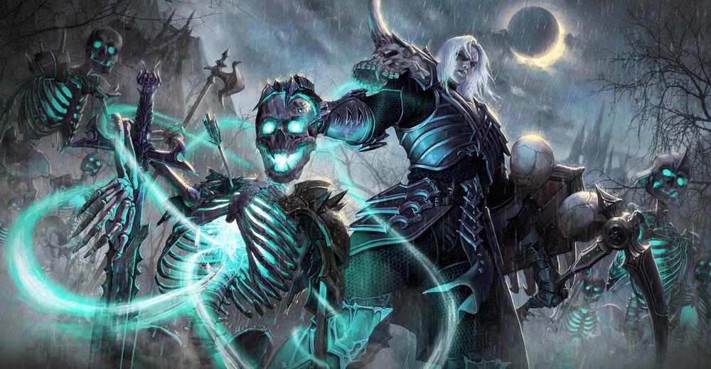暗黑3玩家作品推荐:暴雨中的死灵法师