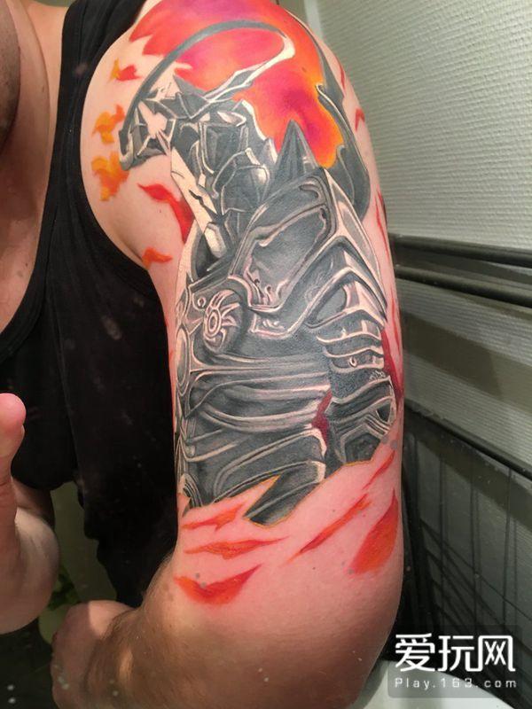 战栗吧恶魔!暗黑3狂热粉丝大秀英普瑞斯纹身