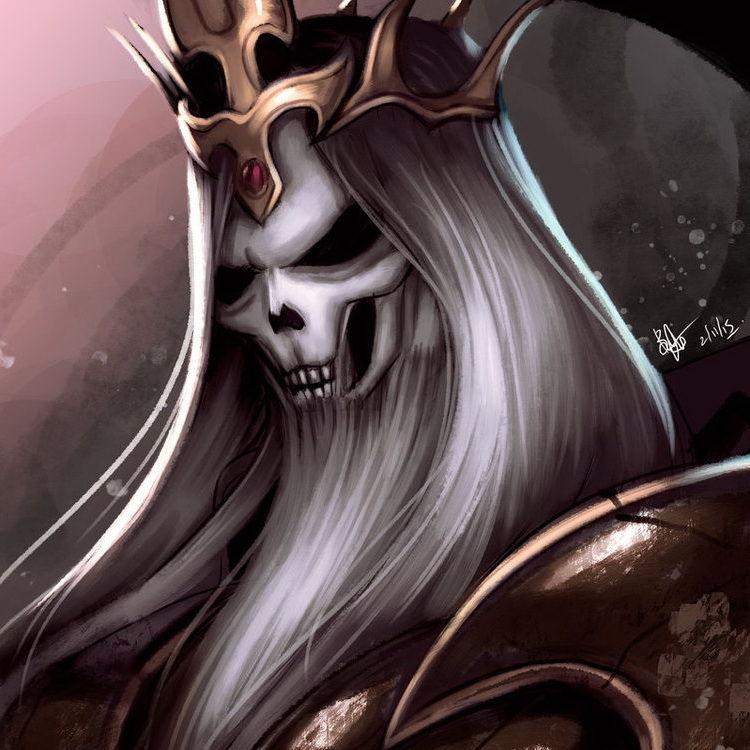 暗黑3玩家作品:骷髅王与塔拉夏法师主题绘画图赏
