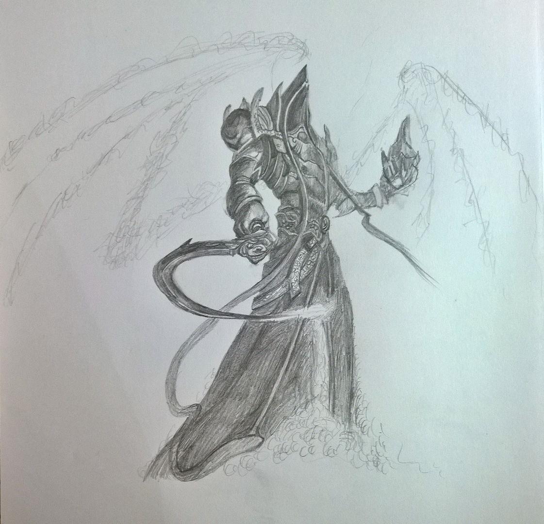 暗黑3玩家作品:马萨伊尔主题的素描画作欣赏
