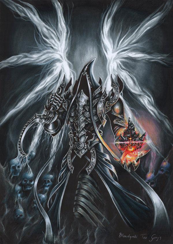 暗黑3玩家作品:手拿黑灵魂石的马萨伊尔