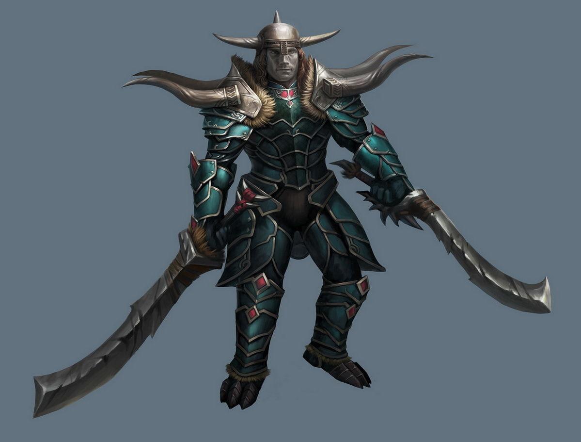 暗黑3玩家作品:身着荒原双刀的旋风野蛮人