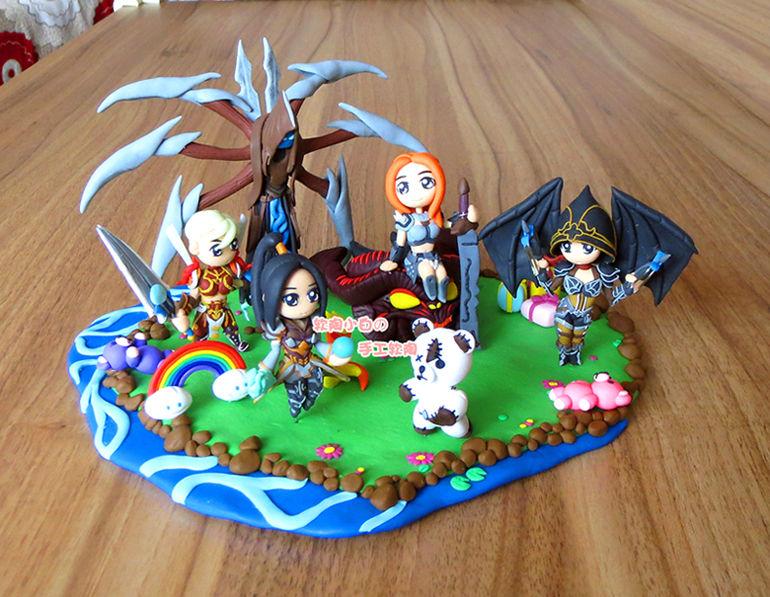 匠心独具:暗黑3玩家使用软陶制作精美彩虹关