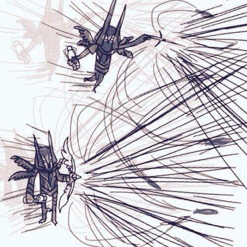 暗黑3玩家作品:猎魔人三种流派的搞怪手绘