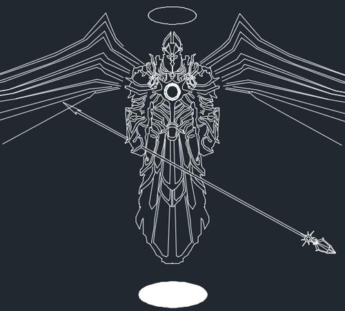 暗黑3玩家作品:CAD版英普瑞斯与泰瑞尔