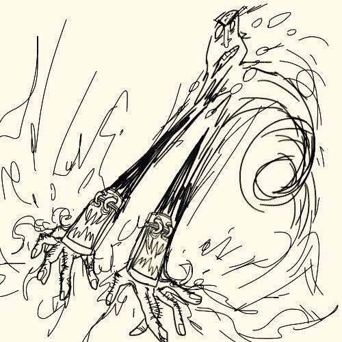 暗黑3玩家作品:武僧四种流派的搞怪手绘