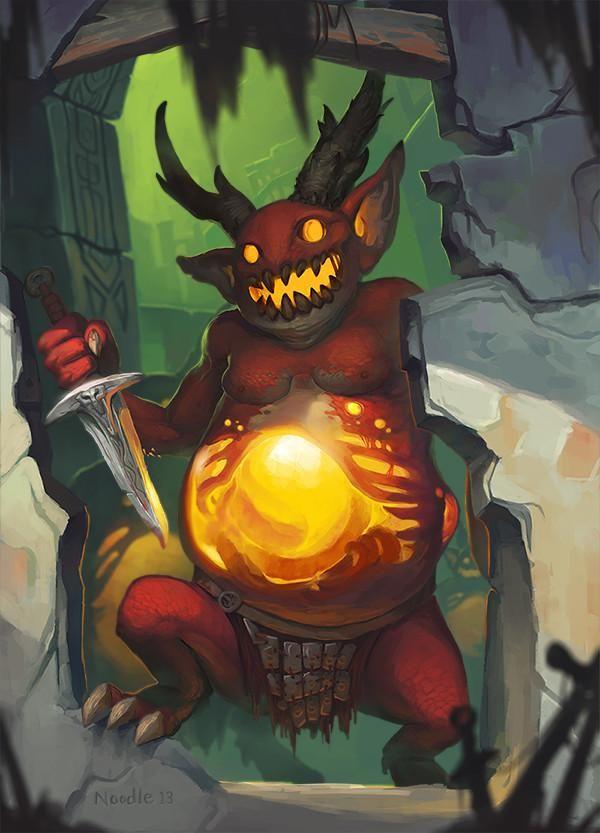 暗黑3玩家作品:萌萌的火焰自爆怪