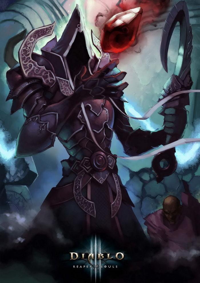 暗黑3玩家作品:武僧和秘术师的涂鸦