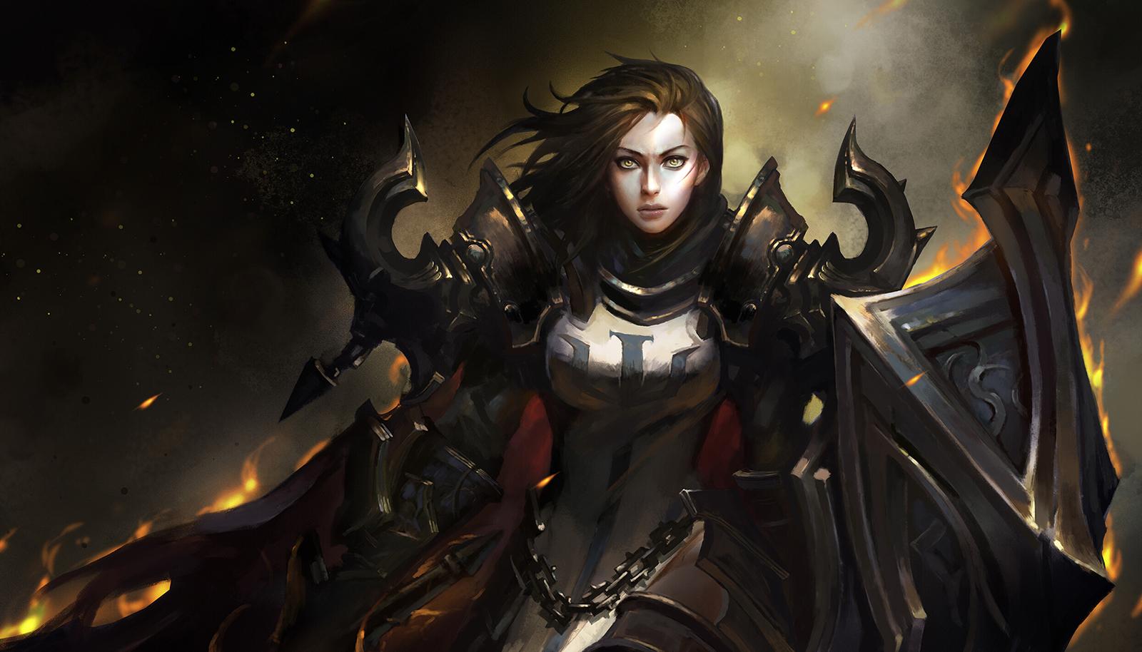 玩家作品:女战神一般的圣教军